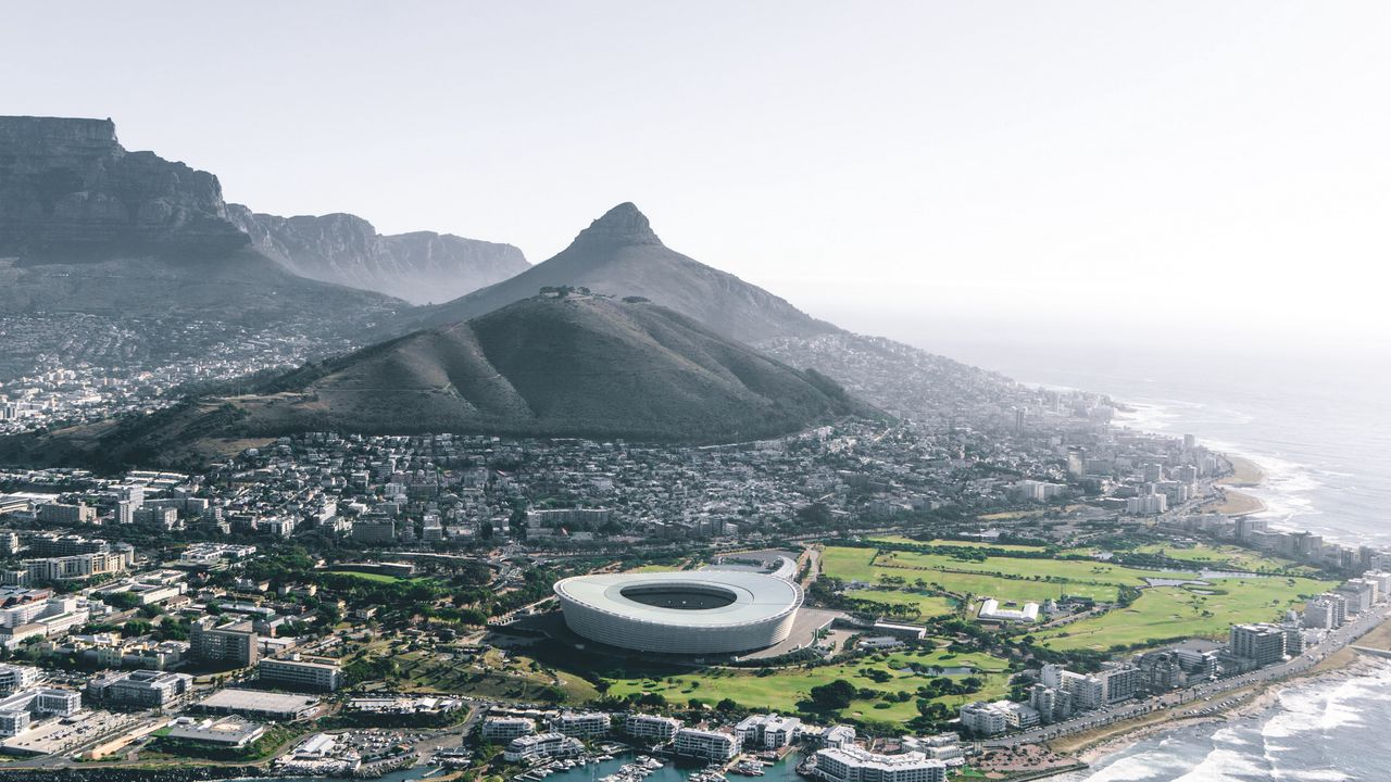 architecture city south africa coast cape town aerial view