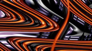 Preview wallpaper fractal, glossy, waves, wavy
