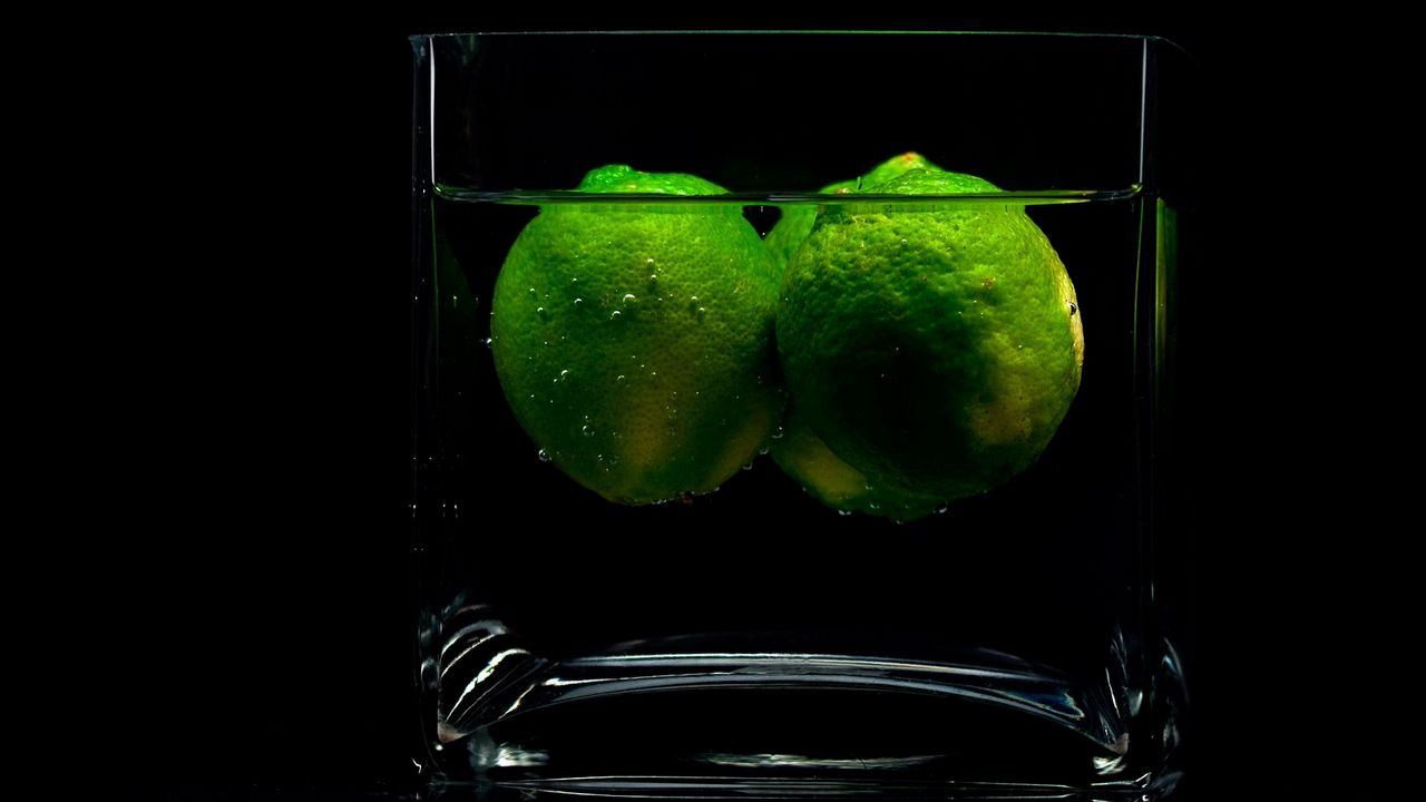 limes green water glass