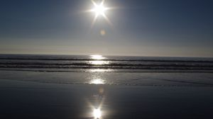Preview wallpaper light, ocean, patches of light, reflection, sea, sun, waves