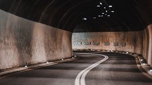 Preview wallpaper lighting, marking, road, tunnel