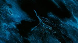 Preview wallpaper abstraction, blue, liquid, paint, stains
